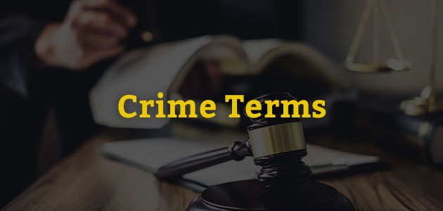 Book of law criminal terms